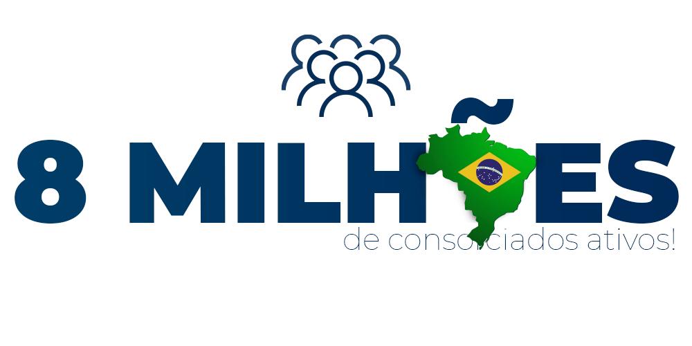 Brasil chega a quase 8 milhões de consorciados ativos!